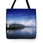 Reflection Of A Traditional Windmill In Tote Bag