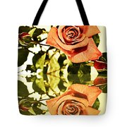 Reflection Of A Warm Rose Tote Bag