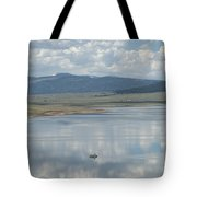 Reflection Of Clouds On Eagle Nest Lake Tote Bag
