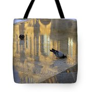 Reflection Of The Louvre In Paris Tote Bag