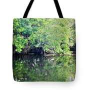 Reflection On The North Fork River Tote Bag