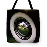Reflections In A Hubcap Tote Bag