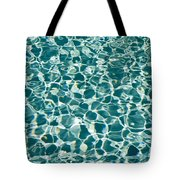 Reflections In A Swimming Pool Tote Bag