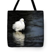 Reflections Of An Egret  Tote Bag