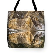 Reflections Of Clay Cliffs In Blue Lake Tote Bag