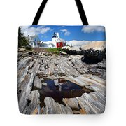 Reflections Of Pemaquid Tote Bag by Brenda Giasson