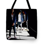 Reflections Of Xon Tote Bag by Alfie Borg