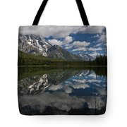 Reflections On Mount Moran Tote Bag