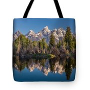 Reflections On Schwabacher Landing Tote Bag