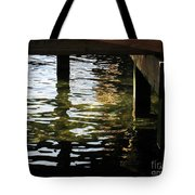 Reflections Under Pier Tote Bag