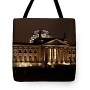 Reichstag At Night Tote Bag