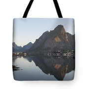 Reine Village In Early Morning Light Tote Bag
