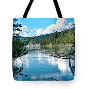 Relective Clouds Tote Bag