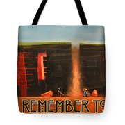 Remember To Flush Poster Tote Bag
