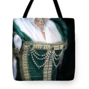 Renaissance Lady In Green Tote Bag