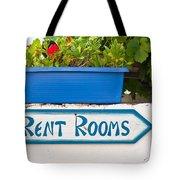 Rent Rooms Sign Tote Bag