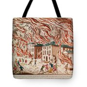 Representation Of The Terrible Fire Of New York Tote Bag