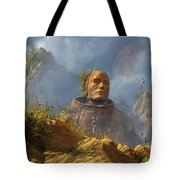 Reptoid Aliens Discover A Statue Tote Bag