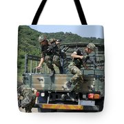 Republic Of Korea Marines Dismount Tote Bag