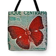 Republique Centrafricaine Butterfly Stamp Tote Bag