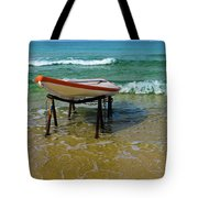 Rescue Boat In Anticipation Of Work Tote Bag