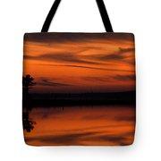 Reservoir Sunset Tote Bag