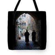 Residents Of Jerusalem Old City Tote Bag