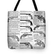 Revolvers And Pistols, 1895 Tote Bag