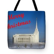 Rexburg Temple Christmas Tote Bag