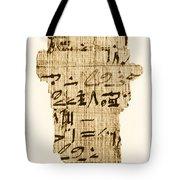 Rhind Papyrus Tote Bag