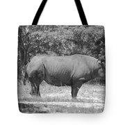 Rhino In Black And White Tote Bag