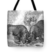 Rhinoceros Fight, 1875 Tote Bag