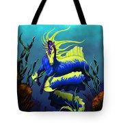 Ribbon Hippocampus Tote Bag