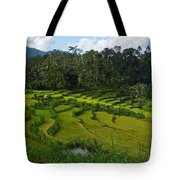 Rice Fields In Agricultural Bali Tote Bag