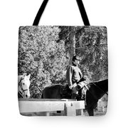 Riding Soldiers B And W II Tote Bag