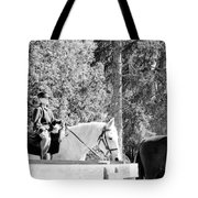 Riding Soldiers B And W IIi Tote Bag