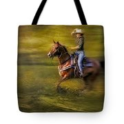 Riding Thru The Meadow Tote Bag by Susan Candelario