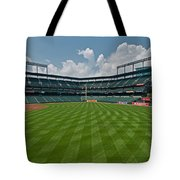 Right To Left At Oriole Park Tote Bag