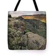 Rio Grande Gorge Above Taos Junction Bridge Tote Bag