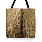 Ripened Wheat And Stubble In Saskatchewan Field Tote Bag