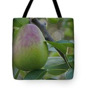 Ripening Pear In Tree Tote Bag
