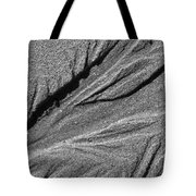 Ripples In The Sand Black And White Tote Bag