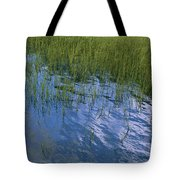 Rippling Water Among Aquatic Grasses Tote Bag