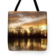 Rising Sun At Crane Hollow Tote Bag