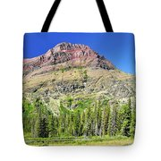 Rising Wolf Mountain Tote Bag