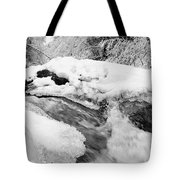 River And Snow II Tote Bag
