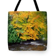 River Camcor In The Fall  Co Offaly Tote Bag