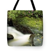 River Flowing Through A Forest, Torc Tote Bag