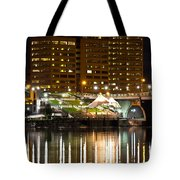 River Front At Night Tote Bag