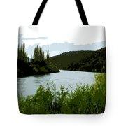 River Landscape Scene Tote Bag